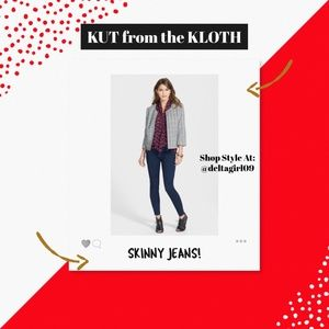 KUT from the KLOTH SKINNY JEANS SIZE 4